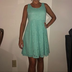 Teal dress from boutique